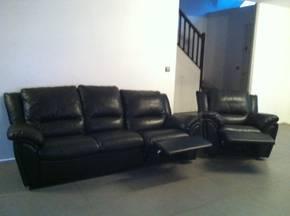 Ensemble canap fauteuil en cuir d 39 occasion petites for Meuble authentica