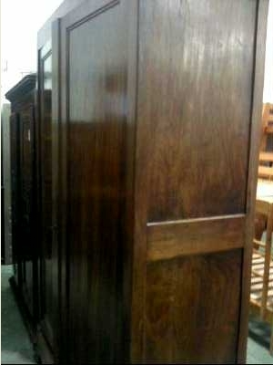 armoire ancienne 2 portes 4 etageres 2 tiroirs d 39 occasion. Black Bedroom Furniture Sets. Home Design Ideas