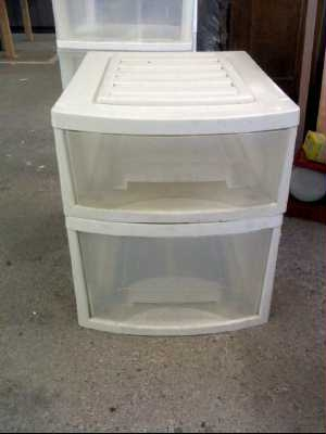 caisson plastique 2 tiroirs d 39 occasion. Black Bedroom Furniture Sets. Home Design Ideas