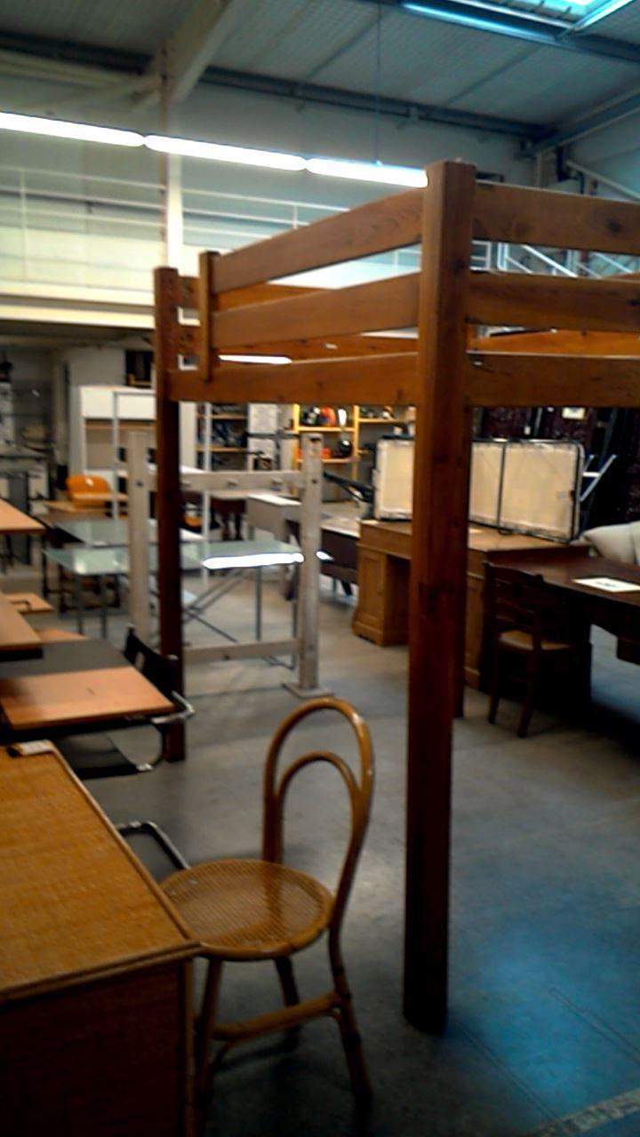 lit mezzanine 140x190 pin d 39 occasion. Black Bedroom Furniture Sets. Home Design Ideas